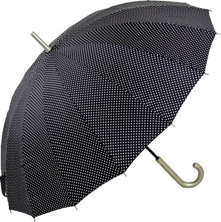 傘 レディース 16本 多骨傘 婦人 ピンドット ファ...