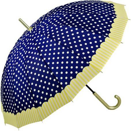 傘 レディース 16本 多骨傘 婦人 ドット ストライ...
