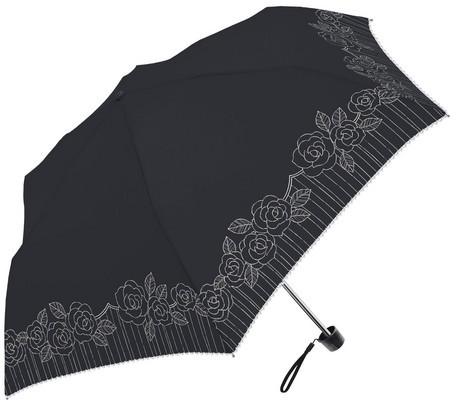 傘 レディース 晴雨兼用 バラ プリント SVコーテ...
