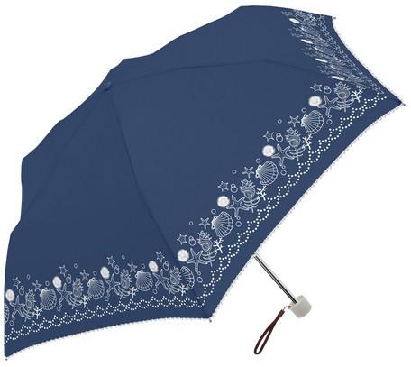 傘 レディース 晴雨兼用 シェルモチーフ 貝 SVコ...