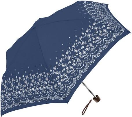 傘 レディース 晴雨兼用 フラワー レース SVコー...