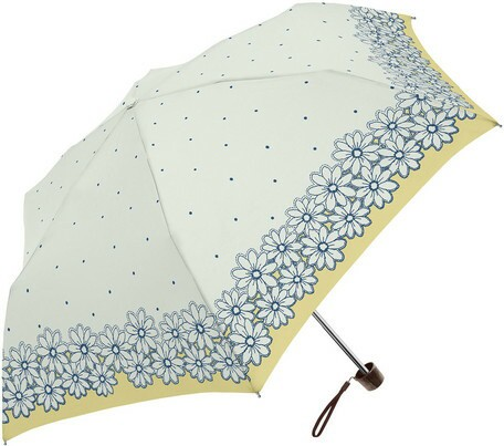 傘 レディース 晴雨兼用 フラワー ドット プリン...
