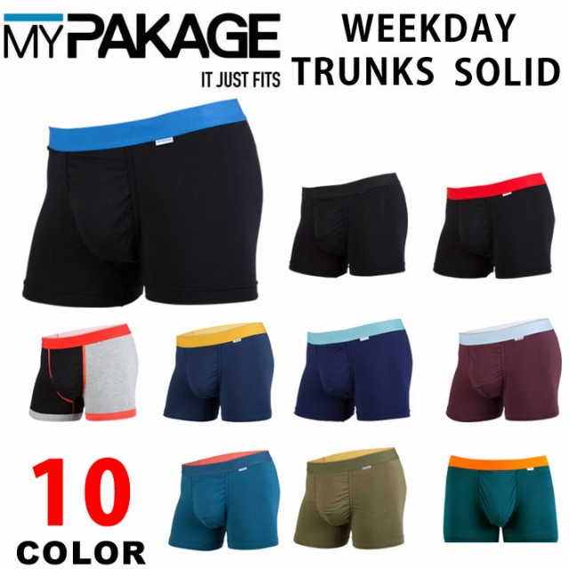 MY PAKAGE マイパッケージ WEEKDAY TRUNKS SOLID ...