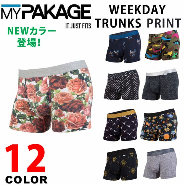 MY PAKAGE マイパッケージ WEEKDAY PRINT TRUNKS ...