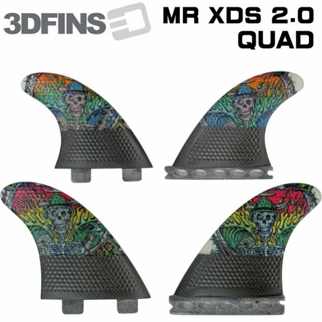 3DFINS 3d フィン MR XDS 2.0 Christain  カーボ...