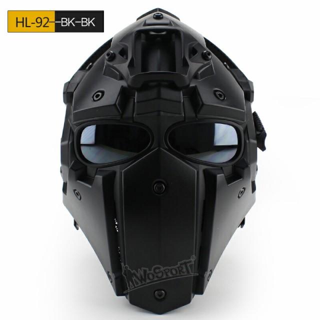 WoSporT Ronin NVGマウントモジュラーヘルメット ファン付 Obsidian