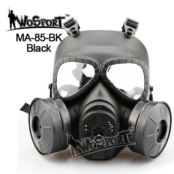 WoSporT M04ガスマスクタイプ 電動ツインファン付...