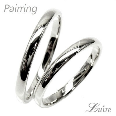 (リュイール)Luire ペアリング 甲丸地金 結婚指輪...