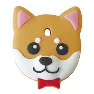 ペットキーカバー 犬 柴犬 赤 【メール便可】