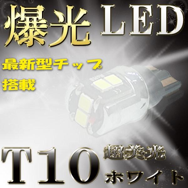 T10 LED ホワイト 白色発光 12V用 スモール ナン...