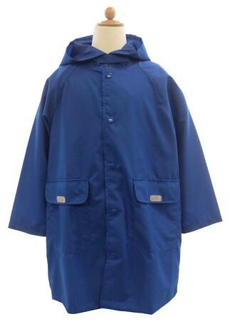レインコート キッズ 雨具 ランドセル対応 ブルー...