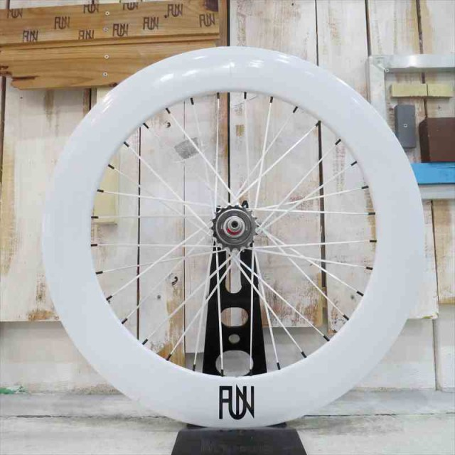 『FUN』【80mmディープリム ホワイト】※700Cリア...