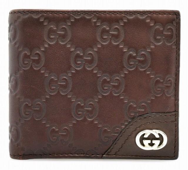 【財布】 グッチ グッチシマ 2つ折り財布 ブラウ...