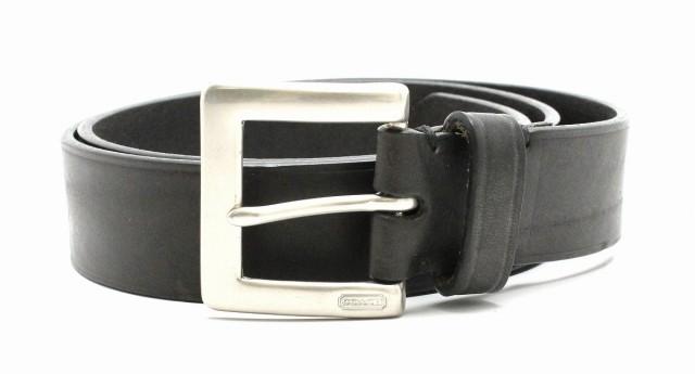 コーチ ベルト メンズ #85/34 レザー ブラック ...