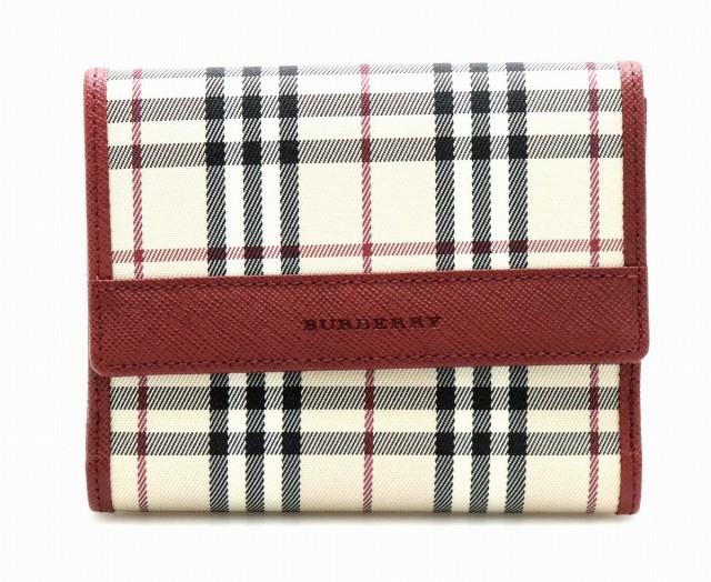【財布】 バーバリー 2つ折 Wホック 財布 ノバチ...