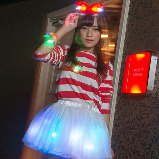 コスプレ パニエ 7色展開 LED 電飾  ハロウィン ...
