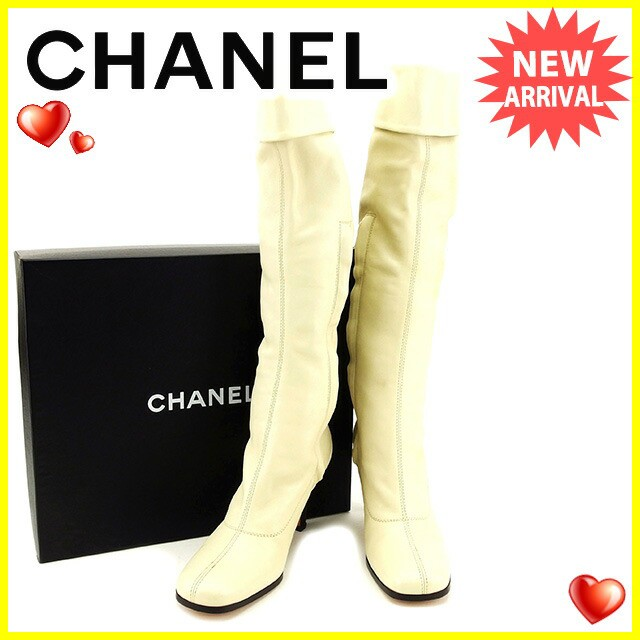 シャネル CHANEL ブーツ #36 メンズ可 ココマーク...