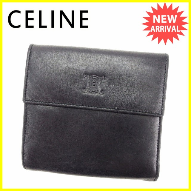 セリーヌ CELINE Wホック 財布 二つ折り 財布 メ...
