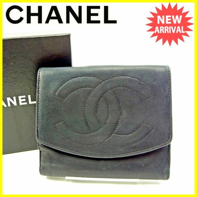 シャネル CHANEL Wホック財布 二つ折り 財布 レデ...
