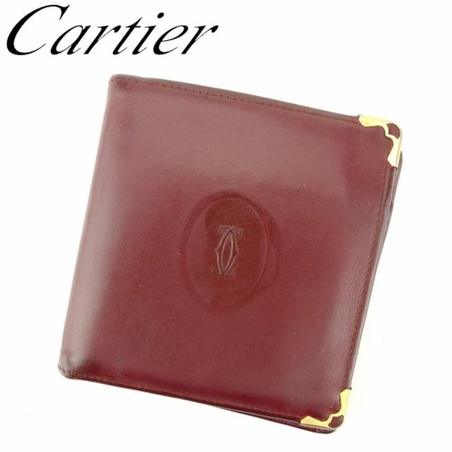カルティエ Cartier 二つ折り 財布 レディース メ...