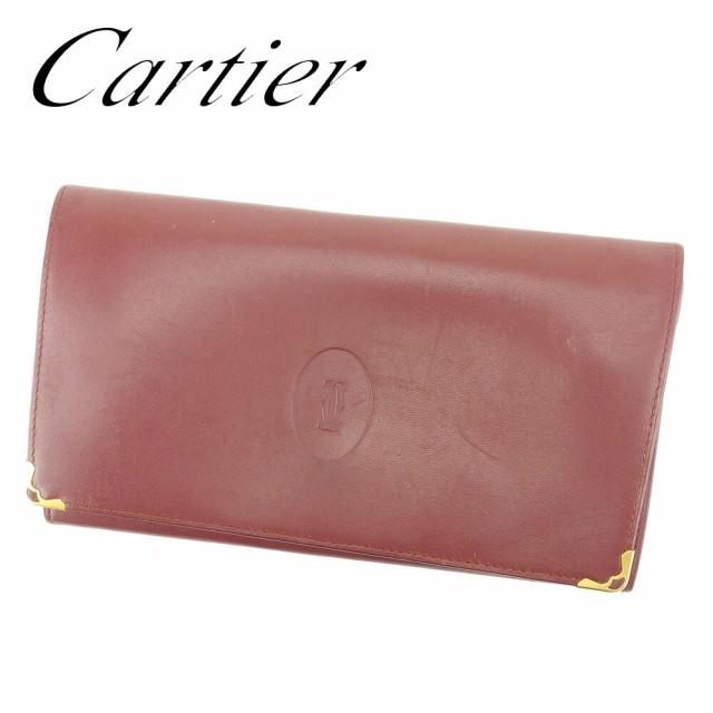 カルティエ Cartier がま口 財布 長財布 二つ折り...