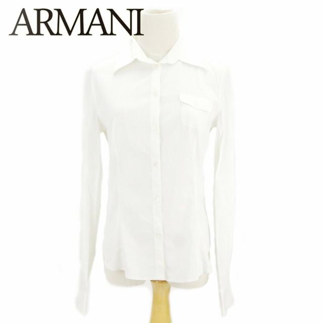 アルマーニ Armani シャツ ストライプ レディース...