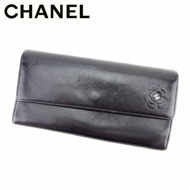 シャネル Chanel 財布 長財布 カメリア レディー...