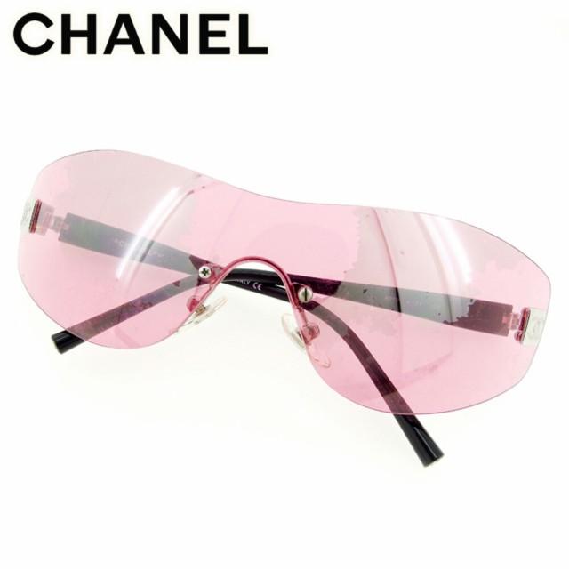 シャネル Chanel サングラス ワンレンズ レディー...