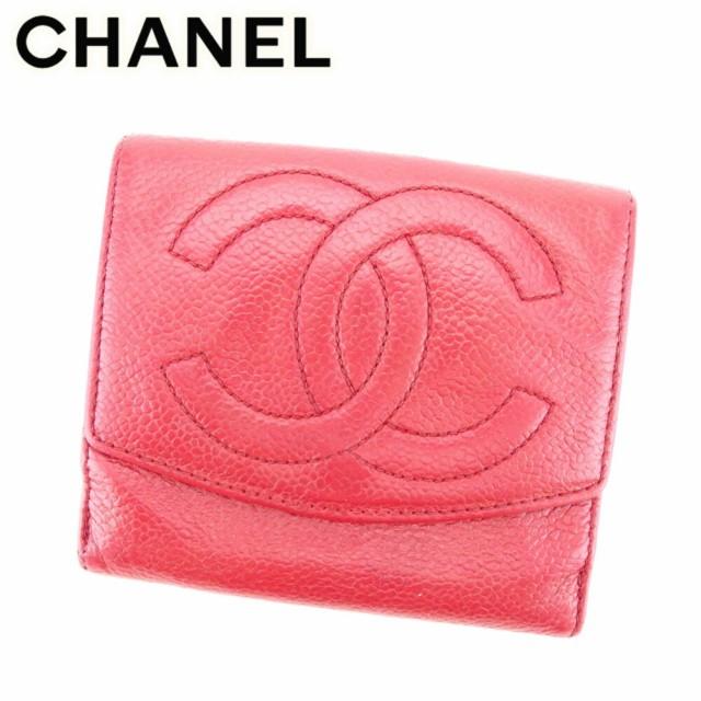 シャネル Chanel 財布 Wホック財布 ココマーク レ...