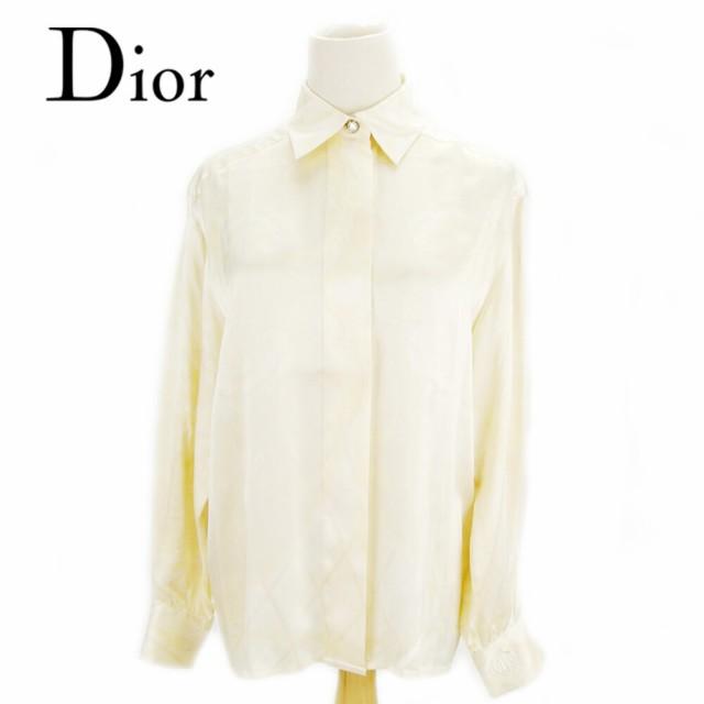 ディオール Dior シャツ ストーンボタン付き ブラ...
