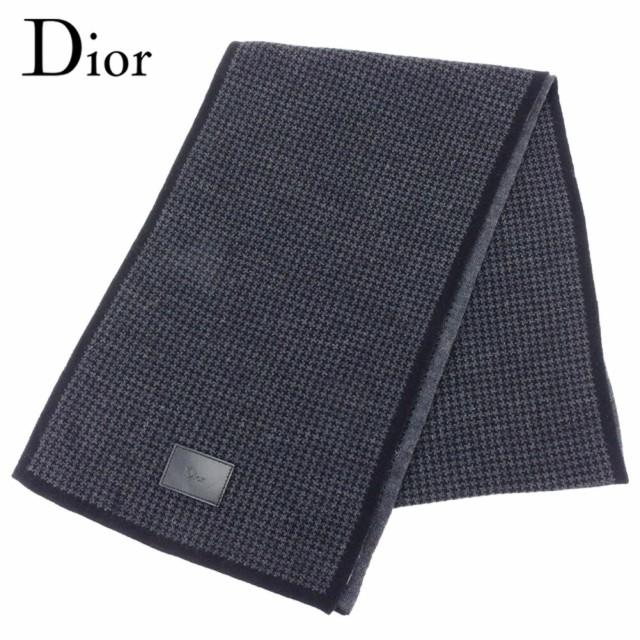ディオール Dior マフラー 千鳥柄 メンズ 中古 T8...