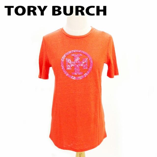 トリーバーチ Tory Burch Tシャツ スパンコールロ...