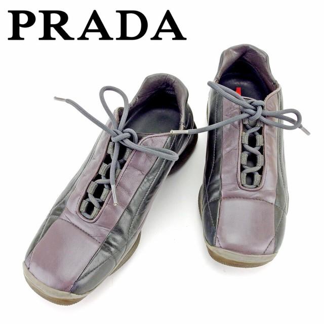 プラダ PRADA スニーカー #37 12 靴 シューズ レ...