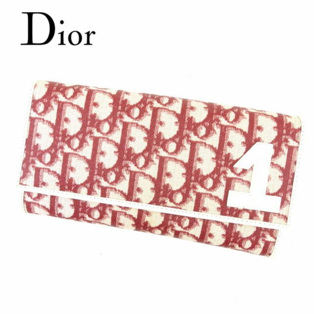 ディオール Dior 長財布 ファスナー付き 長財...