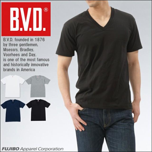 B.V.D. 定番Vネック半袖Tシャツ 無地 吸水速乾 gr...