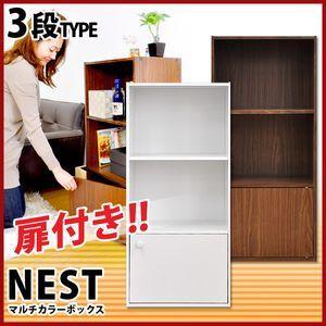 マルチカラーボックス1D【NEST.】1ドアタイプ【組...