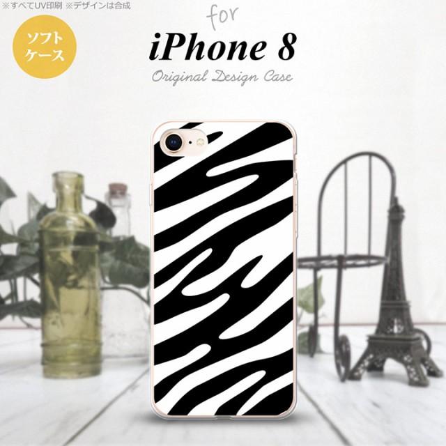 iPhone8 スマホケース カバー アイフォン8 ゼブラ...