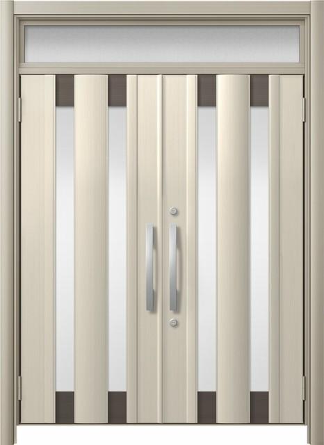 玄関ドア リシェント3 アルミ仕様 ランマ付 C14N...