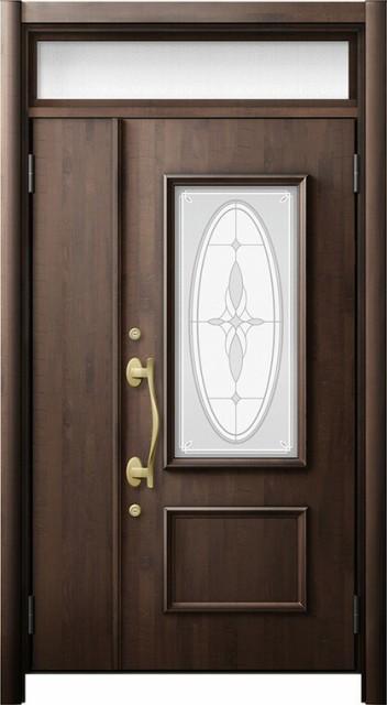 玄関ドア リシェント3 断熱仕様 ランマ付 K4 C15...