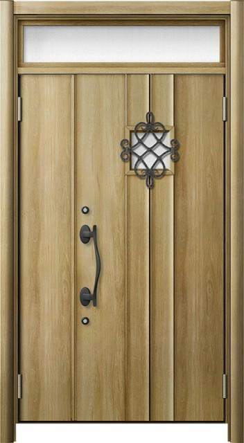 玄関ドア リシェント3 断熱仕様 ランマ付 K4 D77...