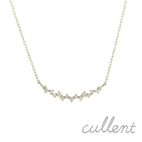 Pt900 diamond necklace riffle