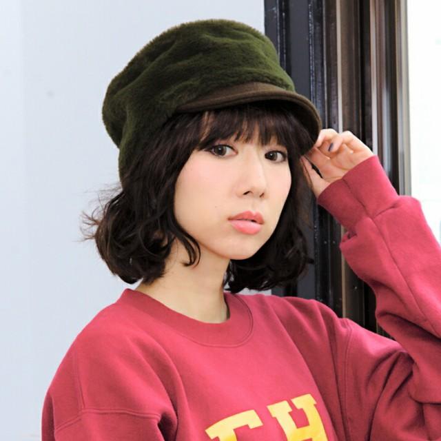 2個1000円引き/帽子/フェイクラビットファーキャ...