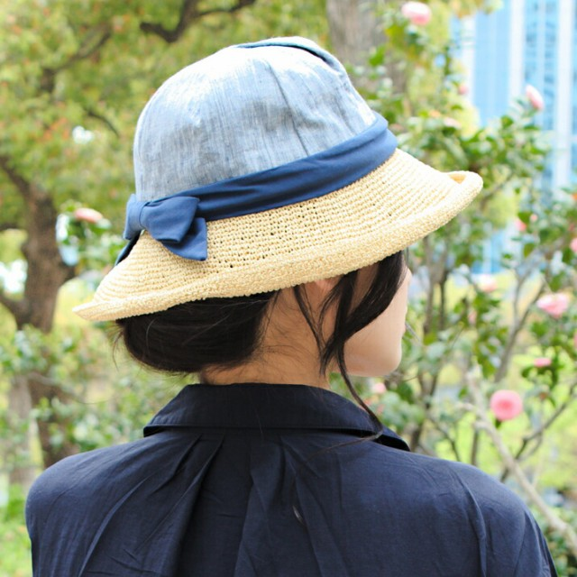 2個1000円引き/帽子/ペーパー細編み布帛セーラー...
