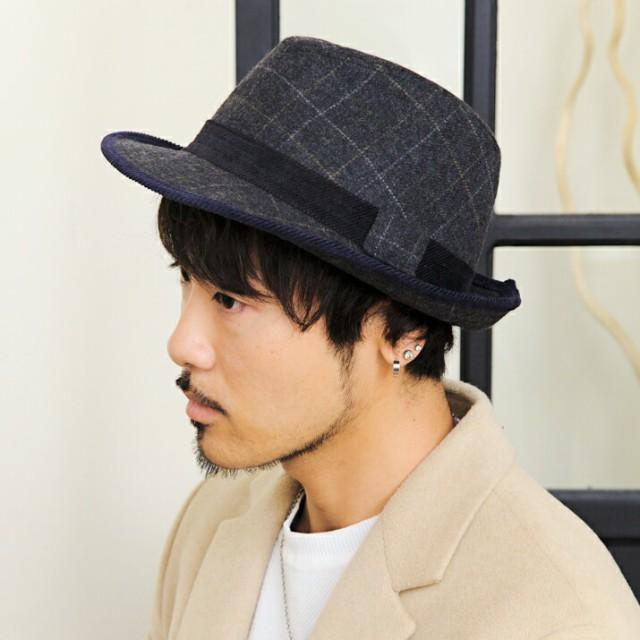 2個1000円引き/帽子/コーデュロイスエード中折ハ...