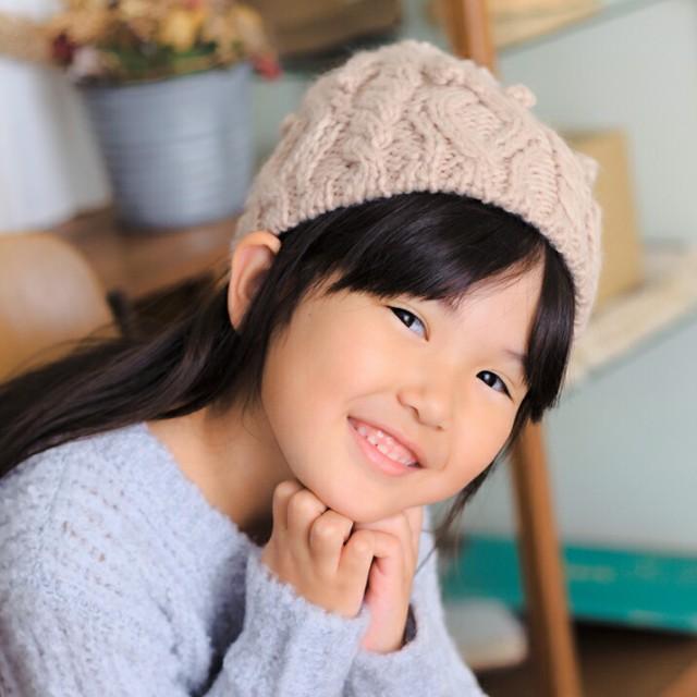 2個1000円引き/帽子/KIDSシンプル豆混編みニット...