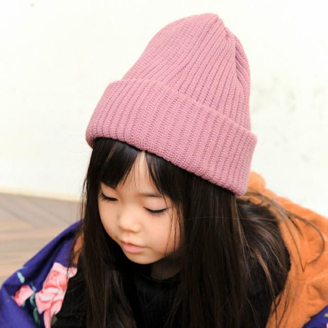 2個1000円引き/帽子/KIDS国産リブ編みワッチ/キッ...