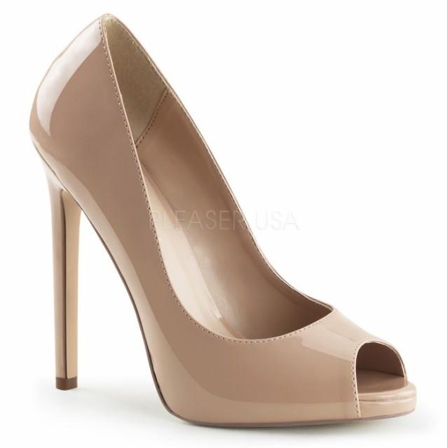 取寄せ靴 ピープトゥ ハイヒールパンプス 12.5cm...