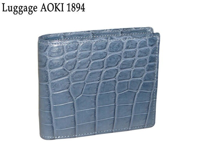 青木鞄 アオキ Luggage AOKI 1894 Matt Crocodile...