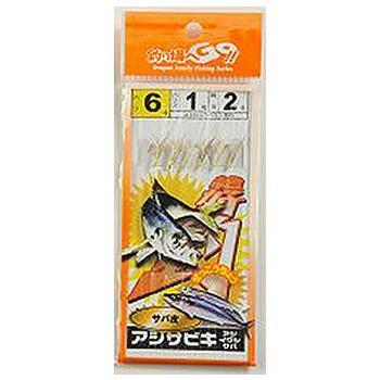 マルシン漁具 アジサビキ サバ皮 (6本針) (仕掛け...