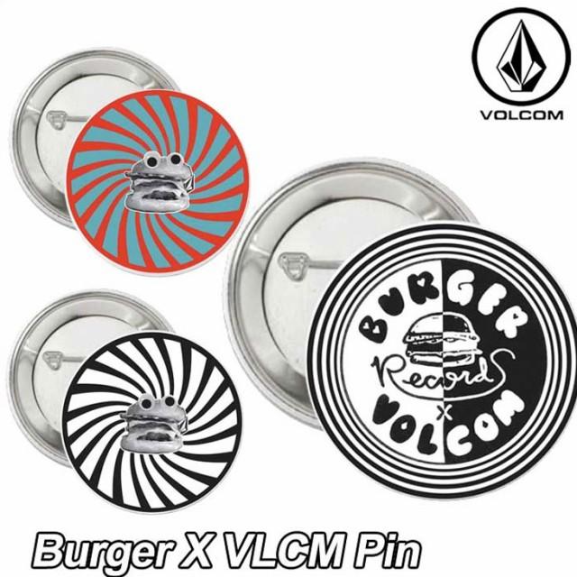 VOLCOM ボルコム メンズ 缶バッジ Burger X VLCM ...
